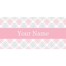 Personalised Name Sign - Pink & Grey Elegance