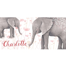 Personalised Name Sign - Elephant Watercolour