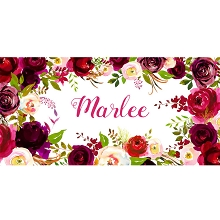 Personalised Name Sign - Floral IV