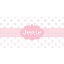 Personalised Name Sign - Pink Dots Elegance