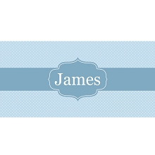 Personalised Name Sign - Blue Dots Elegance