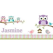 Personalised Name Sign - Owls II