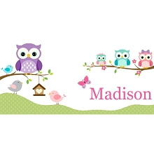 Personalised Name Sign - Owls