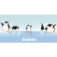 Personalised Name Sign - Penguins