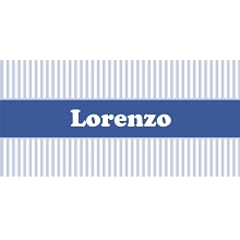 Personalised Name Sign - White & Light Blue Stripes II