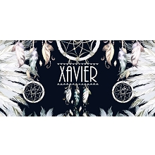 Personalised Name Sign - Dream-catcher Feathers Midnight