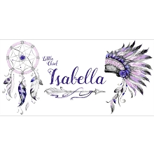Personalised Name Sign - Tribal Purple Pink