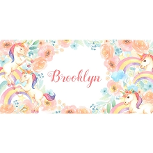 Personalised Name Sign - Unicorn Rainbows