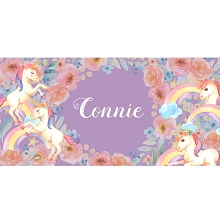 Personalised Name Sign - Unicorn Rainbows III