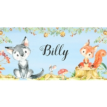Personalised Name Sign - Woodland Animals