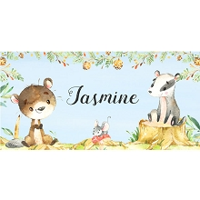 Personalised Name Sign - Woodland Animals II