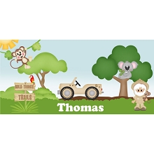 Personalised Name Sign - Zoo