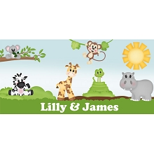 Personalised Name Sign - Zoo III