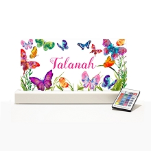Personalised Night Light - Butterfly Garden