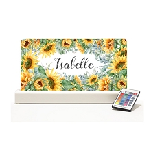 Personalised Night Light - Floral Sun Flowers