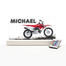 Personalised Night Light - Moto Cross Red