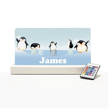 Personalised Night Light - Penguins