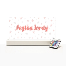 Personalised Night Light - Dusty Pink Stars