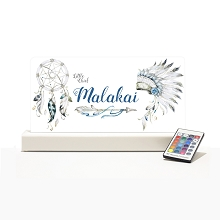 Personalised Night Light - Tribal Blue