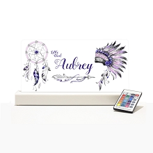 Personalised Night Light - Tribal Purple Pink