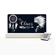 Personalised Night Light - Tribal Dark Blue