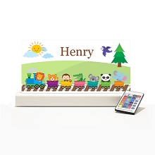 Personalised Night Light - Train Zoo