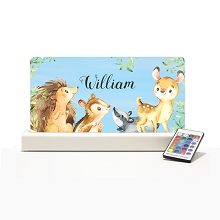 Personalised Night Light - Forest Animals IIII