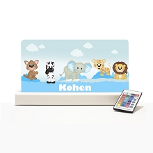 Personalised Night Light - Baby Blue Zoo