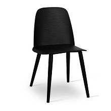 Set of 2 Nerd Replica Dining Chair Black