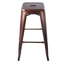 Steel Kitchen Bar Stool 76cm Bronze Set of 2