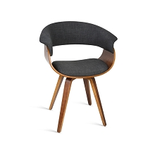 Dark Plywood Modern Dining Chair Charcoal