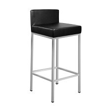 PU Leather Kitchen Bar Stool Black Set of 2