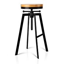 Stunning Vintage Inspired Adjustable Industrial Stool