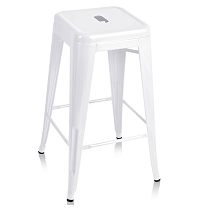 Set of 4 Replica Tolix Kitchen Bar Stool 66cm White