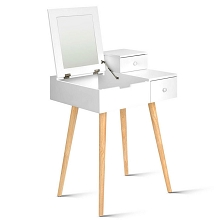 Dressing Table with Foldaway Mirror White