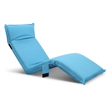 Adjustable Beach Sun Pool Lounger Blue