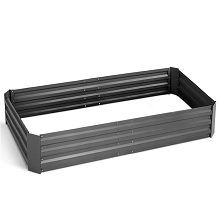 Galvanised Raised Garden Bed - 150 x 90 x 30cm Dark Grey