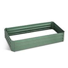 Galvanised Raised Garden Bed - 150 x 90 x 30cm Green