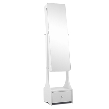 Jewellery Mirror Cabinet with Magnetic Catch White