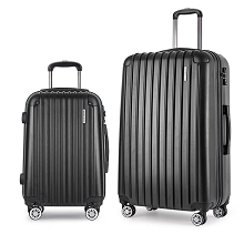 2pc Luggage Set 20 Inch and 28 Inch - Black