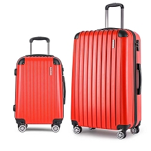 Set of 2 Hard Shell Travel Luggage with TSA Lock - Red