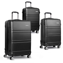 3pc Luggage Set 20, 24 and 28 Inch Black