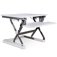 Height Adjustable Standing Desk 89CM - White