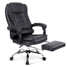 Premium Executive Office Chair with Foot Rest Black