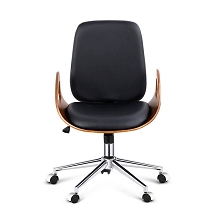Retro Executive Walnut Office Chair