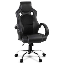 Leather Racing Office Chair Black