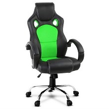 Leather Racing Office Chair Green
