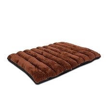 Roll-Up Portable Heavy Duty Travel Dog Bed Brown