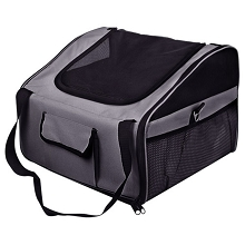Dog or Cat Car Seat Carrier Travel Bag Large Grey