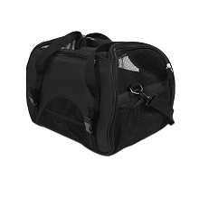 Portable Pet Carrier with Safety Leash Black